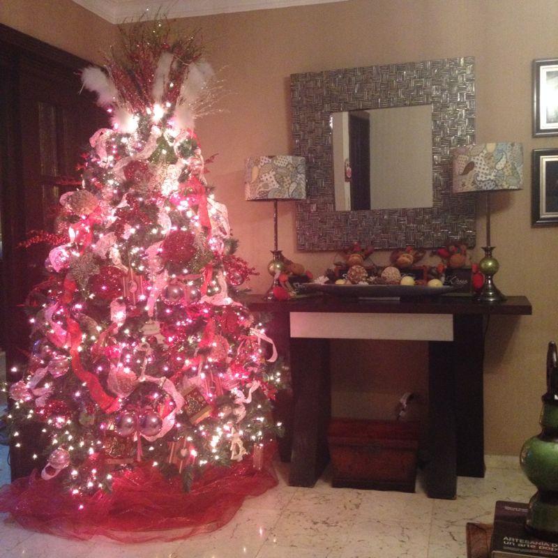 Colores no tradicionales en navidad decoremos con kiki - Arboles de navidad rosa ...